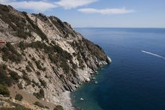 Sealandscape of S. Andrea on Elba Island, Italy. Wonderful panorama from S. Andrea beach. This place is located on Elba Island, in Tuscany, Italy. The island is stock images