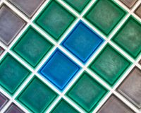 Wonderful pattern and colorful mosaic ceramic tiles. Grey, Blue and Green, Background. Abstract Royalty Free Stock Images