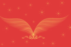 Wonderful pattern with wings and blinking stars on Royalty Free Stock Photography