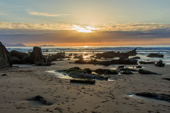 The wonderful and peculiar beach of Barrika.  stock photo