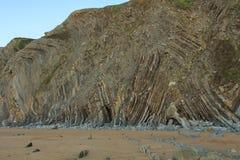 The wonderful and peculiar beach of Barrika.  stock image
