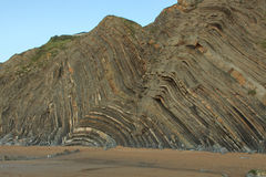 The wonderful and peculiar beach of Barrika.  stock photos