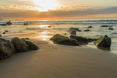 The wonderful and peculiar beach of Barrika.  royalty free stock images