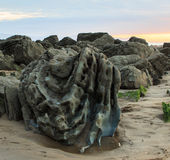 The wonderful and peculiar beach of Barrika.  stock photography