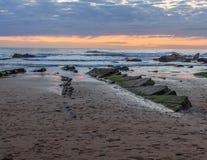 The wonderful and peculiar beach of Barrika royalty free stock photos