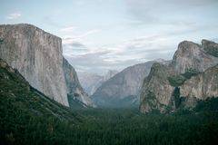 Calm skies over Yosemite National Park. This wonderful picture shows Calm skies over Yosemite National Park stock image