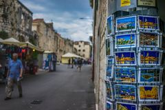 Amazing place in the old town in Split, Croatia. Wonderful place in Croatia, such an amazing landscape! Amazing place in the old town in Split, Croatia Royalty Free Stock Images