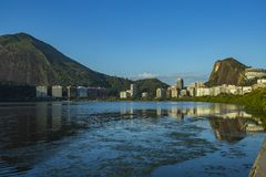 Wonderful places in the world. Lagoon and neighborhood of Ipanema in Rio de Janeiro, Brazil. Wonderful city. Wonderful places in the world. Lagoon and royalty free stock image