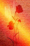 Wonderful poppies on the canvas. Stock Photo