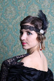 Wonderful portrait of the retro woman Royalty Free Stock Photography