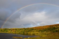 Wonderful rainbow in Scotland Royalty Free Stock Image