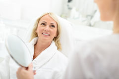 Wonderful result after skincare treatment Royalty Free Stock Photography