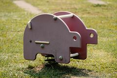Wonderful Retro Elephant Ride In Children Playground royalty free stock images