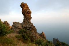 Wonderful rock in Kara Dag Mountain Stock Photos