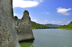 The Wonderful Rocks. Of Tsonevo dam in Bulgaria stock image