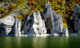 The Wonderful Rocks. Of Tsonevo dam in Bulgaria, fall time royalty free stock photo