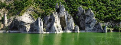 The Wonderful Rocks. Of Tsonevo dam in Bulgaria royalty free stock image