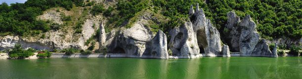 The Wonderful Rocks. Of Tsonevo dam in Bulgaria royalty free stock images