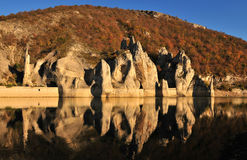 The Wonderful Rocks. Of Tsonevo dam in Bulgaria, fall time stock photos