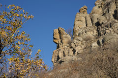 Wonderful rocks of Ghosts valley in autumn Royalty Free Stock Image
