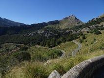Curvy street to Sa Calobra, Mallorca, Ballears Royalty Free Stock Images