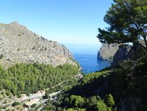 Wonderful landscape on the way to Sa Calobra, Mallorca, Ballears Royalty Free Stock Images