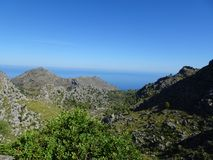 Wonderful landscape on the way to Sa Calobra, Mallorca, Ballears Stock Photos