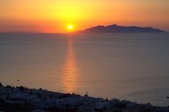 Wonderful Santorini sunrise Royalty Free Stock Images