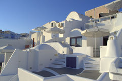 Dazzling white villas in Santorini Royalty Free Stock Photography