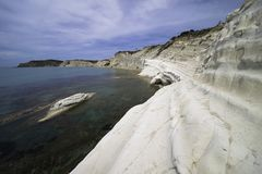 Beach of Scala Dei Turchi, Realmonte in Sicily. n Royalty Free Stock Photo