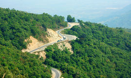 Wonderful scene, Ngoan Muc mountain pass Stock Image