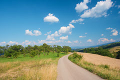 Wonderful scenery. Beautiful rural scenery and fantastic sky Royalty Free Stock Photos