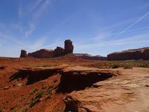 Monument Valley in Navajo Reserve, Utah, USA. Wonderful scenery in Monument Valley in Navajo Reserve, Utah, USA Stock Photography
