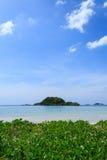 Wonderful Sea and Blue Sky at Nang Rum Beach Stock Images