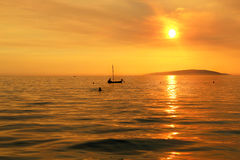 Wonderful sea sunset in Croatia Stock Photography