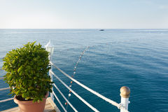 Wonderful sea view from the waterfront Stock Image