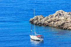 Wonderful seascape. Wonderful summer seascape in Montenegro stock photos