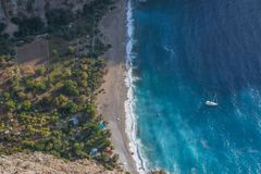 The wonderful seaside of the Butterfly Beach, Southern Turkey stock image