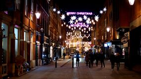 Wonderful Seven Dials in London at Christmas time - LONDON, ENGLAND - DECEMBER 10, 2019