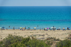 Wonderful Sicilia sandy Beach Stock Images