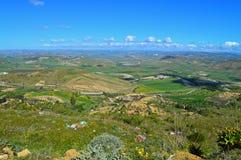 Wonderful Sicilian Landscape, Mazzarino, Caltanissetta, Italy, Europe. Wonderful Sicilian Landscape, Mazzarino, Caltanissetta, Green Sicilian Hills, Spring stock image