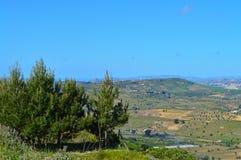Wonderful Sicilian Landscape, Mazzarino, Caltanissetta, Italy, Europe. Wonderful Sicilian Landscape, Mazzarino, Caltanissetta, Green Sicilian Hills, Spring royalty free stock image