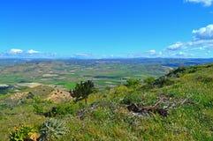 Wonderful Sicilian Landscape, Mazzarino, Caltanissetta, Italy, Europe. Wonderful Sicilian Landscape, Mazzarino, Caltanissetta, Green Sicilian Hills, Spring royalty free stock photo