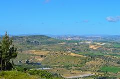 Wonderful Sicilian Landscape, Mazzarino, Caltanissetta, Italy, Europe. Wonderful Sicilian Landscape, Mazzarino, Caltanissetta, Green Sicilian Hills, Spring stock photos