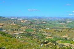 Wonderful Sicilian Landscape, Mazzarino, Caltanissetta, Italy, Europe. Wonderful Sicilian Landscape, Mazzarino, Caltanissetta, Green Sicilian Hills, Spring royalty free stock photography