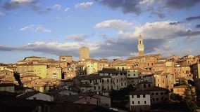 Wonderful siena. Italy, beautiful view of Siena at sunset stock footage