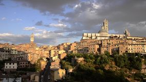 Wonderful siena. Italy, view of Siena at sunset stock video footage
