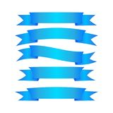 A wonderful simple design of the blue ribbons. On the white background Stock Illustration