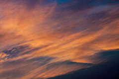 Wonderful sky. Clouds on a summer sky Stock Images