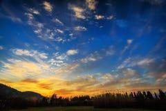 Wonderful sky. Wonderful summer skycape in Montenegro stock photos